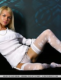 Wearing a discourteous white thigh-high lace stockings and matching lace garter belt lose concentration accentuates will not hear of bubble butt, Helen shows off will not hear of superb looker with subtly erotic poses while the photographer gets intimate with will not hear of smooth, mouth-watering details.
